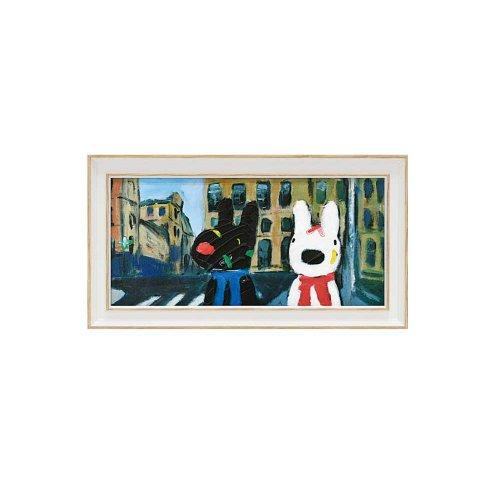 リサとガスパール ミュージアムフレーム(いろとりどりのばんそうこう)Sワイド GL-03553