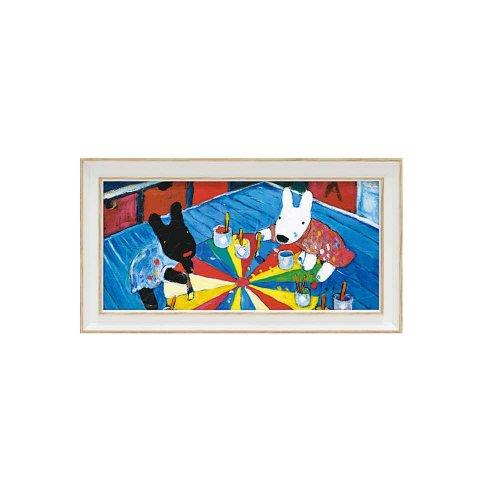 リサとガスパール ミュージアムフレーム(ペインティング)Sワイド GL-03558