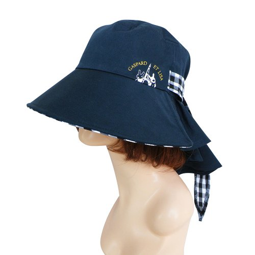 リサとガスパール リサ&ガスパール つば広帽子 ブラック&ホワイト ST-IG0004