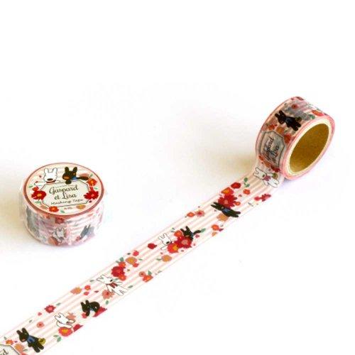 リサとガスパール マスキングテープ(ガーリー) KL000003-6