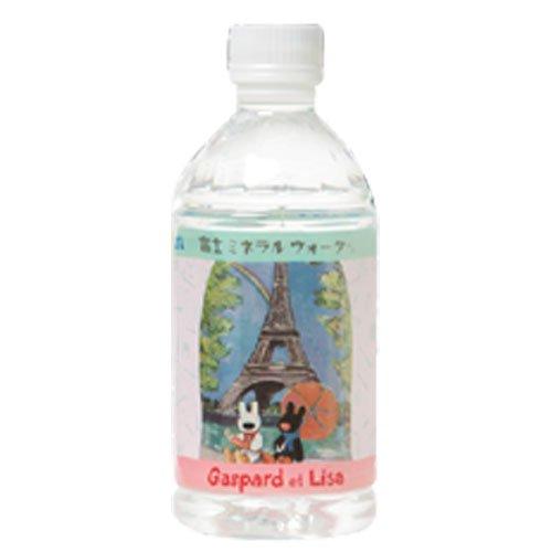 リサとガスパール 富士ミネラルウォーター(350ml) 1本(エッフェル塔)