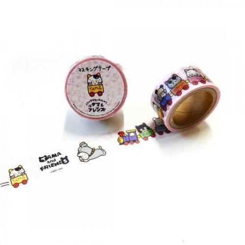タマ&フレンズ マスキングテープ(電車でおでかけ) TM-MK-004