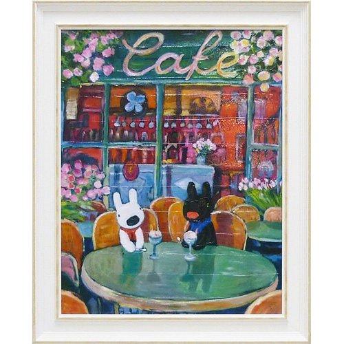 リサとガスパール アートフレームL「春のカフェ」 GL-10001