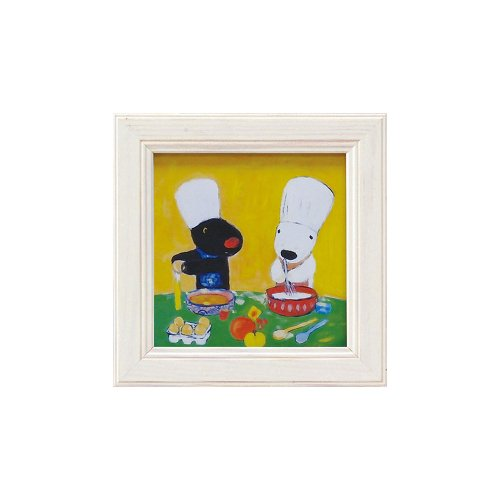 リサとガスパール ミニアートフレーム「デザートブック」 GL-00655