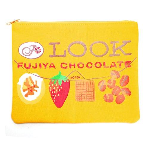 ルック チョコレート フラットポーチ LOOK (不二家お菓子雑貨) PE-1221 PK