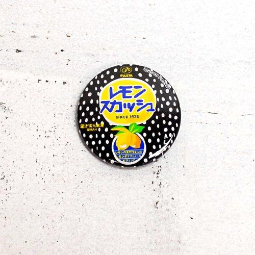 レモンスカッシュ 缶バッジ (不二家飲料雑貨) PE-1227 PK