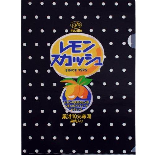 レモンスカッシュ クリアファイル (不二家飲料雑貨) PE-1238 PK
