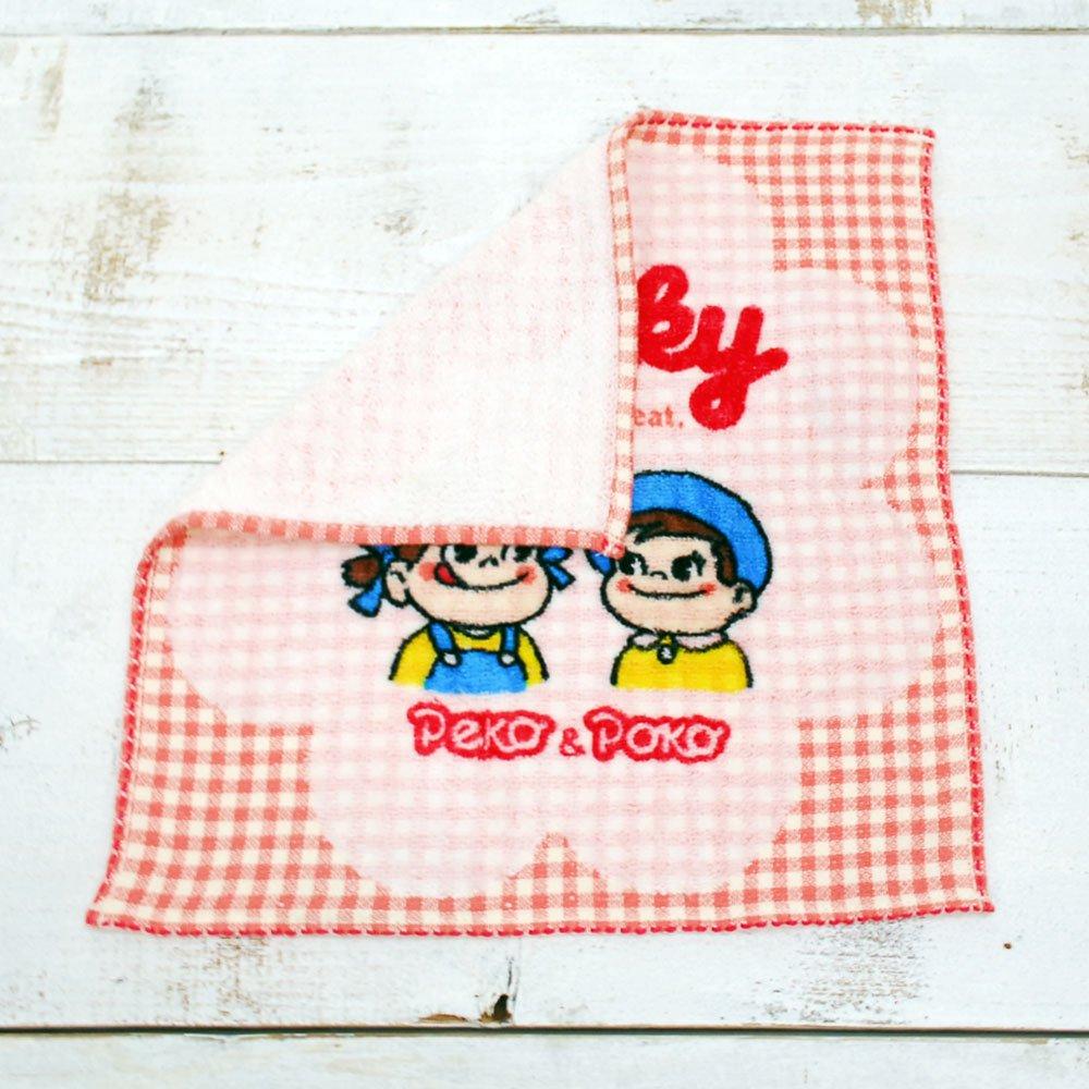 キャラコ ペコ&ポコ ミニタオル(チェックミルキー) SNS045A (不二家お菓子雑貨) PK