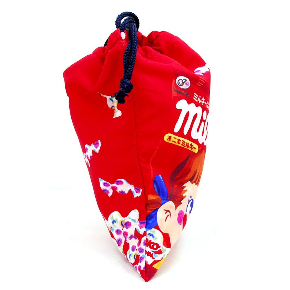 キャラコ 【生産終了品】ペコちゃん ミルキーA 巾着M(不二家お菓子雑貨) 026521 PK