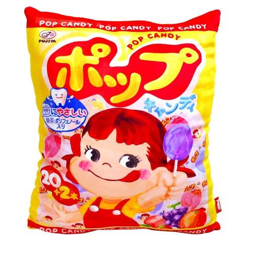 【生産終了品】ペコちゃん POPキャンディー Dクッション(不二家お菓子雑貨) 026644 PK