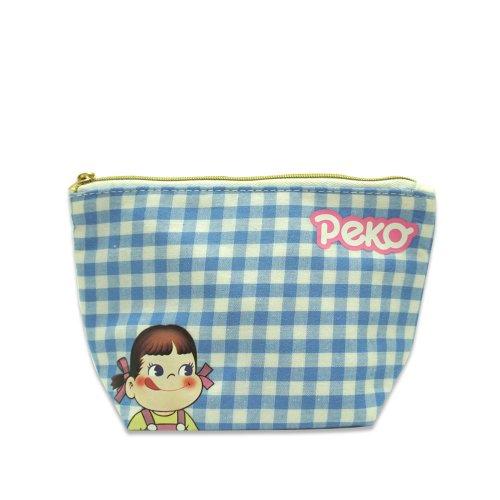 ペコちゃん ポーチ(チェック) PE-0521 (不二家お菓子雑貨) PK