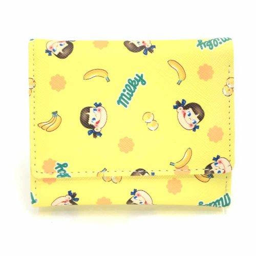 ペコちゃん三つ折りワレット(バナナ) PE332YE-4 PK