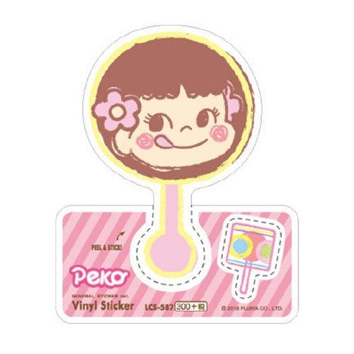 ペコちゃん ビニールステッカー(ペコチョコレート) LCS-587 (不二家お菓子雑貨) PK