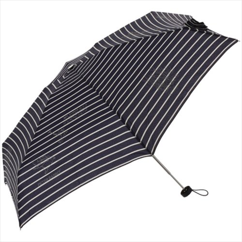 【生産終了品】ピーターラビット 折りたたみ傘(ボーダー5段ミニ)ネイビー 8604