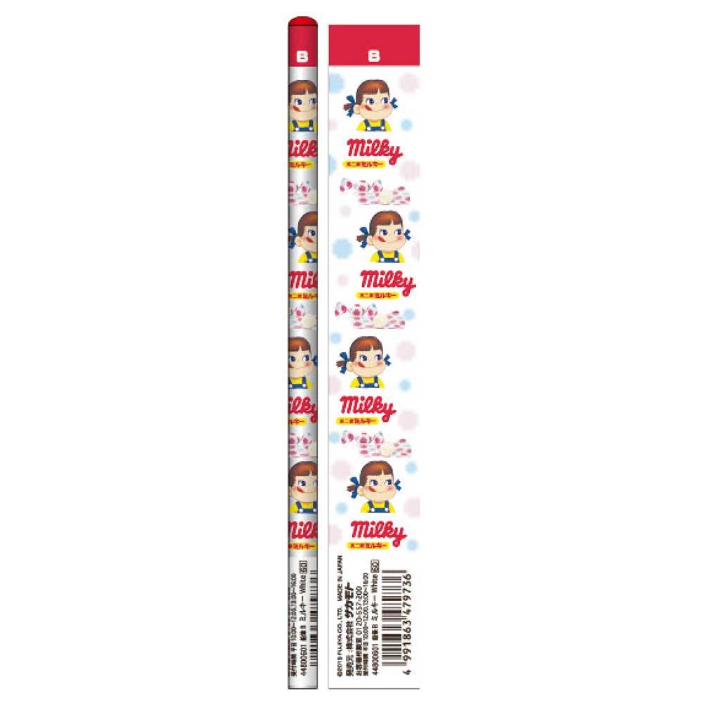 キャラコ おやつ鉛筆B 5本セット(ミルキーホワイト) 44800601 PK