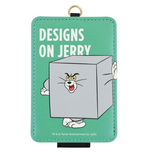 トムとジェリー 【FUNNY ART series】 ICカードケース(グリーン)TMJ-70GR