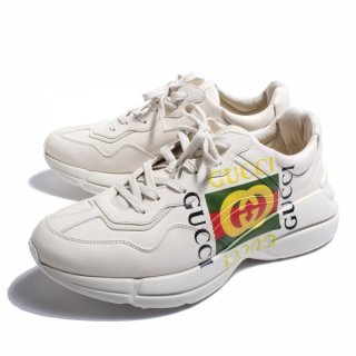GUCCI LOGO LEATHER SNEAKER2