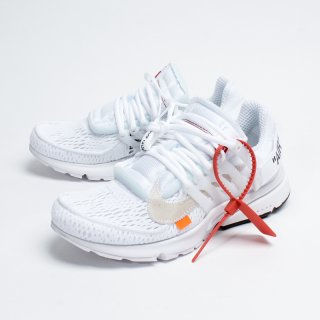 OFF-WHITE × NIKE AIR PRESTO WHITE/BLACK-CONE