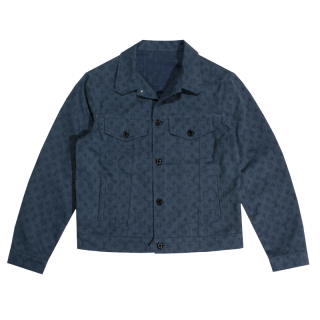 LOUIS VITTON<br>MONOGRAM DENIM JACKET