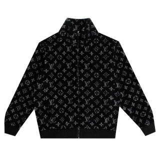 LOUIS VITTON<br>MONOGRAM JACQUARD FLEECE<br>ZIP THROUGH JACKET