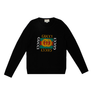 GUCCI<br>LOGO COTTON SWEAT SHIRTS