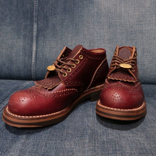 Rolling dub trio coupen brogue オイルバーガンディ