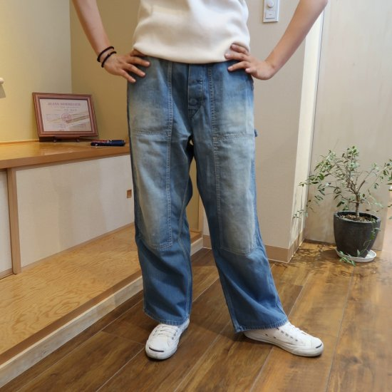 <img class='new_mark_img1' src='https://img.shop-pro.jp/img/new/icons1.gif' style='border:none;display:inline;margin:0px;padding:0px;width:auto;' />H.UNIT STORE LABEL LADY'S Denim side open painter pants(Real wash)