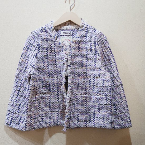 <img class='new_mark_img1' src='https://img.shop-pro.jp/img/new/icons1.gif' style='border:none;display:inline;margin:0px;padding:0px;width:auto;' />COOHEM SPRING AIR TWEED JACKET