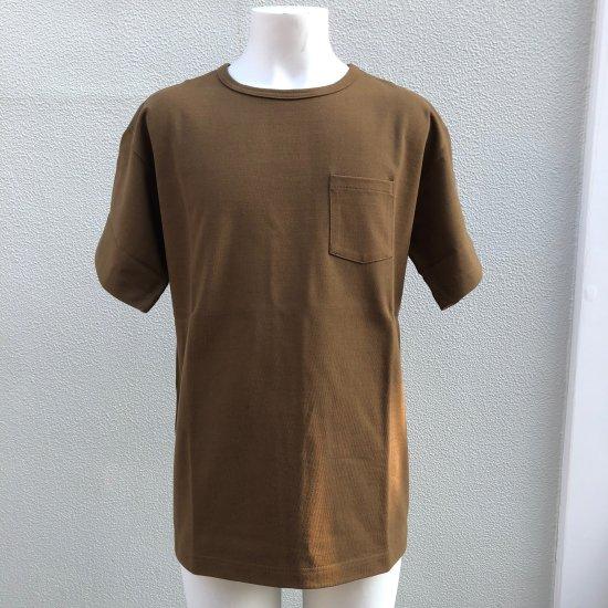 BONCOURA ヘビーウエイトポケットTシャツ コヨーテ