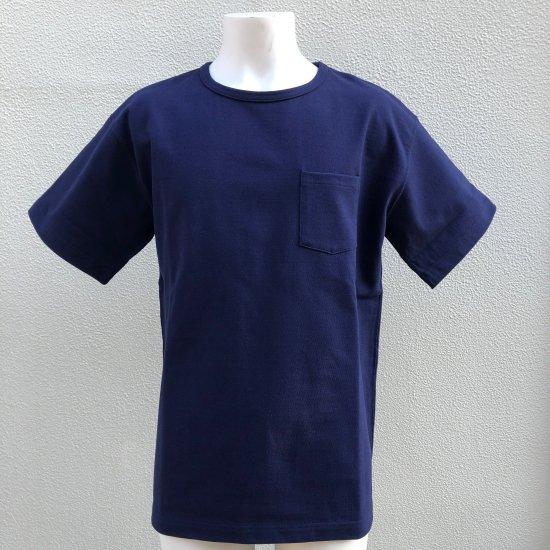 BONCOURA ヘビーウエイトポケットTシャツ インクブルー