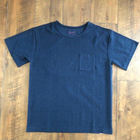 BONCOURA 丸胴ポケットTシャツ インディゴ
