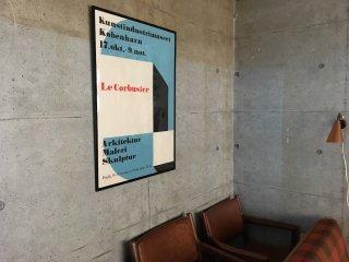 展示会 ポスター 'Le Corbusier' at Kunstindustrimuseet, Copenhagen, Denmark