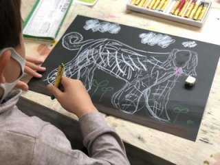 親子絵画教室 土曜10:00〜10:50  ※チケット制