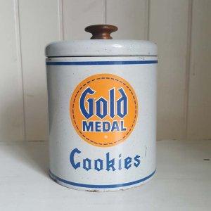 アメリカ・ブロカント・ホーロー・クッキー缶