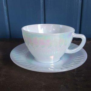 オーロラカップ&ソーサー(耐熱ガラス)