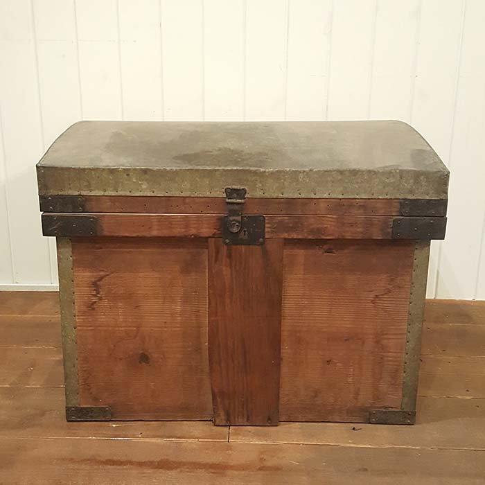 昭和レトロ・ふた付き木箱・BOX メインイメージ