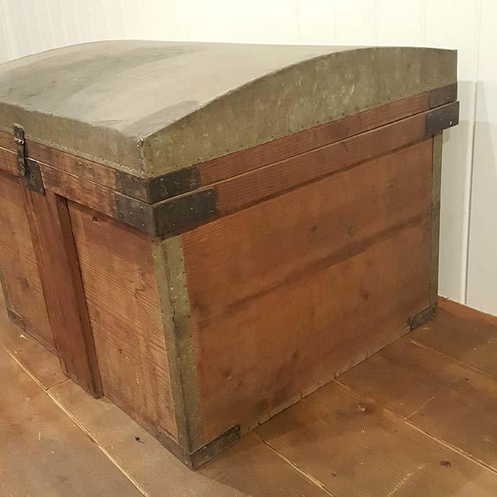 昭和レトロ・ふた付き木箱・BOX サブイメージ