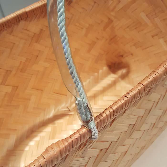 台湾カゴ・Mサイズ・持ち手付きカゴ・竹製 サブイメージ