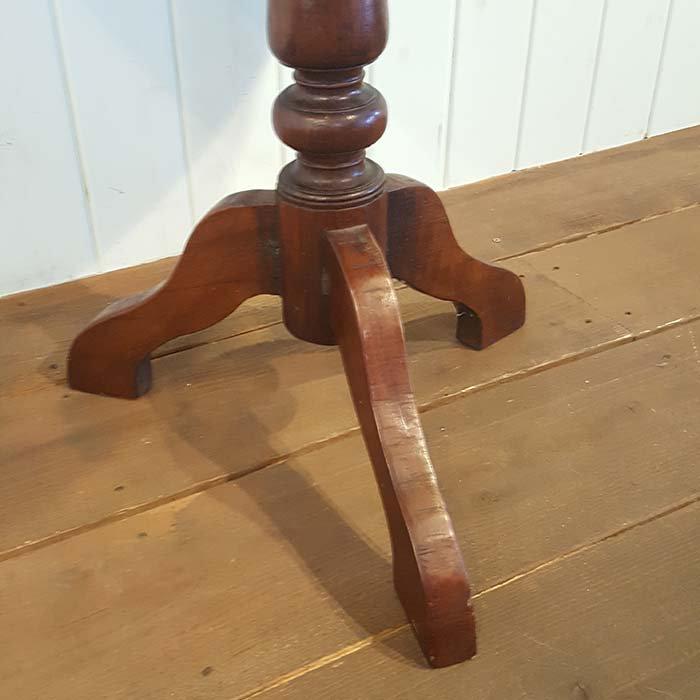 木製アンティーク風デザイン・丸テーブル/送料別途らくらく家財便でお届け サブイメージ