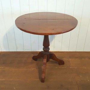 木製アンティーク風デザイン・丸テーブル/送料別途らくらく家財便でお届け