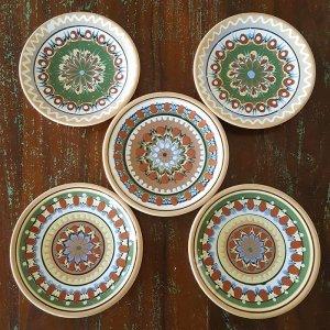 リトアニア・陶器・絵皿(3柄)