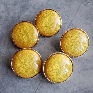 5個セット・同色ボタン・お買い得価格ボタン・大サイズ・イエロー