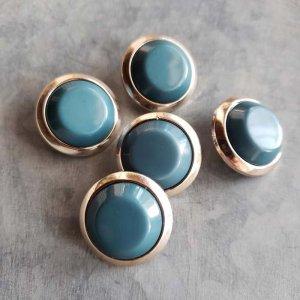 5個セット・同色ボタン・お買い得価格ボタン・大サイズ・ブルー