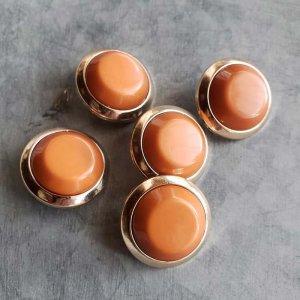 5個セット・同色ボタン・お買い得価格ボタン・大サイズ・ダークオレンジ