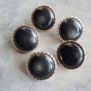 5個セット・同色ボタン・お買い得価格ボタン・大サイズ・ブラック