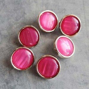 6個セット・同色ボタン・お買い得価格ボタン・中サイズ・ピンク