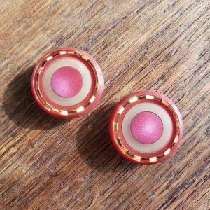 No.80/カシスレッド/2cm/レトロボタン・2個セット