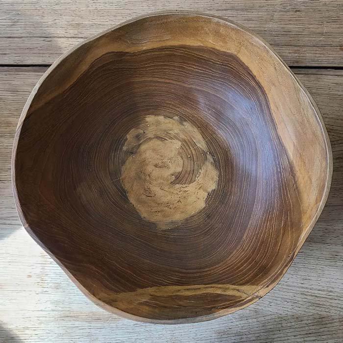 インドネシア・チークウッド・木製ボウル(大) サブイメージ