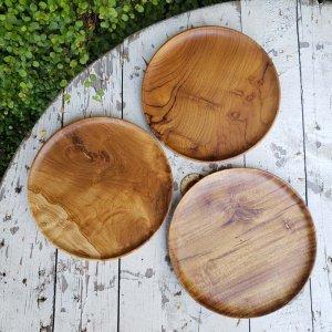 インドネシア・チーク・WOOD・木製プレート・丸皿