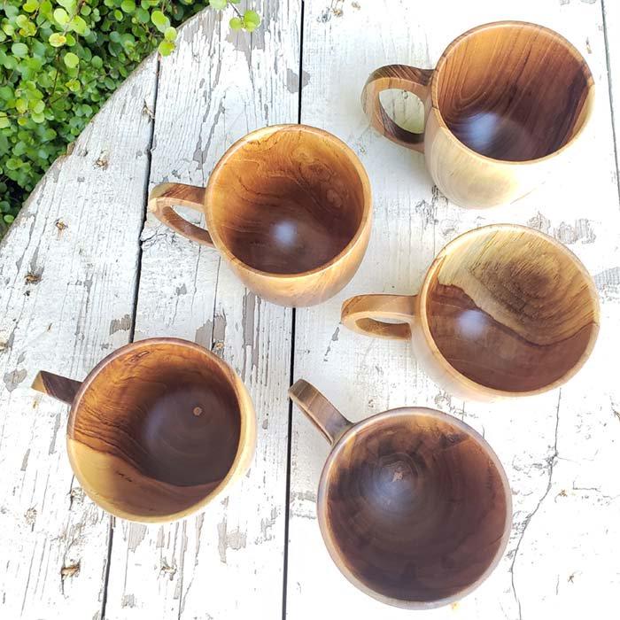 インドネシア・チーク・木製マグカップ サブイメージ